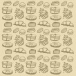 Cupcake seamless pattern — Stock Vector #12088137