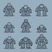 Robot — Vettoriale Stock