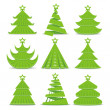 Royalty-Free Stock Vector Image: Christmas trees collection