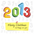 Happy new year 2013, colorful design — Stock Vector #12839537