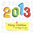 Happy new year 2013, colorful design — Stock Vector