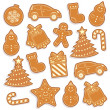Cute gingerbread man seamless pattern — Stock Vector