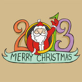 Santa claus 2013 — Stock vektor
