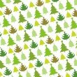 Stock Vector: Pattern of christmas tree