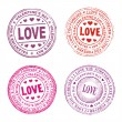 Valentine day seal - Stock Vector