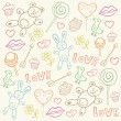 Royalty-Free Stock Vector Image: Seamless pattern with love doodles