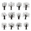 Collection of trees silhouettes — Stock Vector