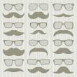 Royalty-Free Stock Vector Image: Mustaches set