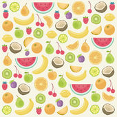 Fruits seamless background — Stock Vector