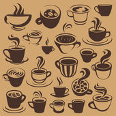 Coffee elements or logos — Stock Vector
