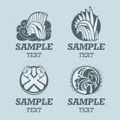 Knight helmet logo template — Stock Vector