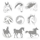 Logos horse — Stock Vector