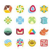 Set di logotipo — Vettoriale Stock
