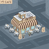 Facade coffee shop — Stock Vector