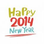Happy new year 2014 — Stock Vector