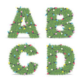 Christmas Alphabet — Stock Vector