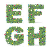 Christmas Alphabet — Stockvector