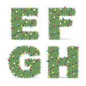 Christmas Alphabet — Stock Vector