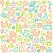 Baby pattern — Stock Vector