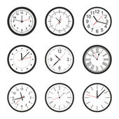 Vector illustration of clock — Vector de stock