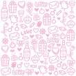 Love pattern — Stock Vector #37893647