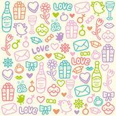 любовь шаблон — Cтоковый вектор