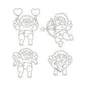 Cupid set — Stock Vector