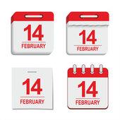 Valentine calendar icon — Stock Vector