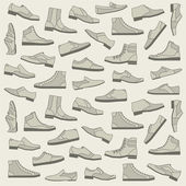 Shoes seamless pattern — Stock Vector