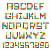 Plast konstruktion block alfabetet — Stockvektor