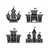 Castle icons — Stock Vector