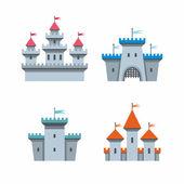 Schloss-symbole — Stockvektor