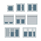 Plastic window — Stock Vector
