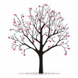 Valentine tree with hearts — Stock Vector #9132769