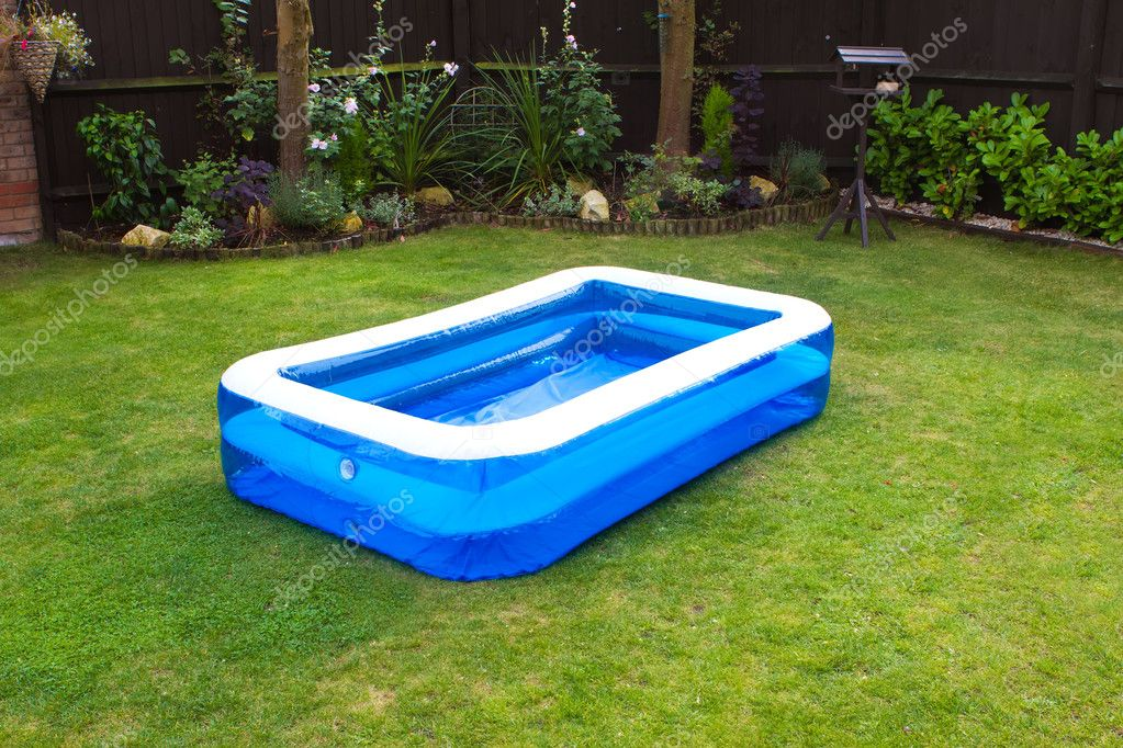 stock photo an inflatable swimming pool in
