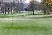 Mañana helada en el campo de golf — Foto de Stock