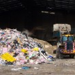 Rubbish piled up at a waste management centre — Foto Stock
