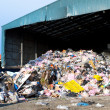 Rubbish piled up at a waste management centre — Stock Photo