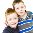 Cheeky brothers standing together — Stock Photo