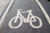 Cycle road sign painted on road — Stock Photo
