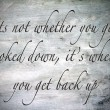 Inspirational, hopeful and  motivating quote on vintage backgrou - Foto de Stock