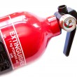 Stock Photo: Red fire extinguiher on white background