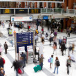 LONDON - APR 24th 2013 : Inside view of Liverpool Street, since — Stock Photo #24690351