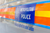 LONDON - APR 24th 2013 : Metropolitan Police Vehicle. The force — Stock Photo