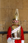 LONDON - APRIL 20: Members of the Household Cavalry on duty at H — Stock Photo