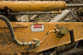 Earth Mover Keep Clear — Stockfoto