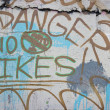 No Bikes Grafitti — Stock Photo