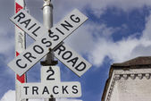 RR Crossing — Stock Photo