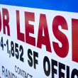 An office space for lease sign. - Foto Stock