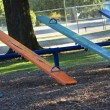 Stock Photo: Multi colored teeter totter